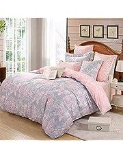 TEALP Floral Duvet Cover Luxury Bedding Sets 3 Pieces (1 Duvet Cover + 2 Pillow Shams) Reversible Design Super Soft Cotton Duvet Cover Set