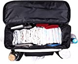 FamCare Premium Stroller Organizer Universal Fit w/Insulated Cup Holders, Wipes Pocket, Zipper and Shoulder Strap - XLarge Storage Space for Phone, Diapers & Toys - The Perfect Baby Shower Gift!