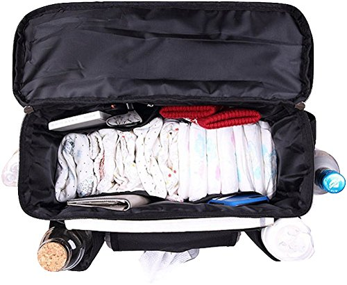 FamCare Premium Stroller Organizer Universal Fit w/Insulated Cup Holders, Wipes Pocket, Zipper and Shoulder Strap - XLarge Storage Space for Phone, Diapers & Toys - The Perfect Baby Shower Gift! by FamCare (Image #1)