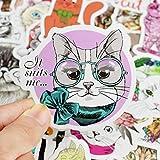 Girl Cute Cartoon cat Laptop Stickers Car