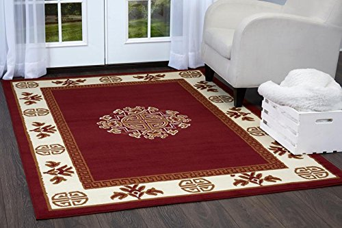 Bold Border - Home Dynamix Premium Sultan Area Rug by Traditional Mediterranean-Style Accent Rug | Timeless Medallion Center and Bold Border | Elegant Living Room Rug | Red, Cream 21