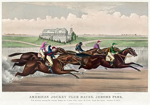 - Jerome Park Horse Race 1873 Namerican Jockey Club Race At Jerome Park New York City With Jockey Tom Bowling Winning The Two Mile Race For Three Year Olds 4 October 1873 Lithograph By Currier And Ives