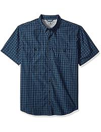G.H. Bass & Co. mens Big and Tall Explorer Fancy Short Sleeve Button Down Shirt