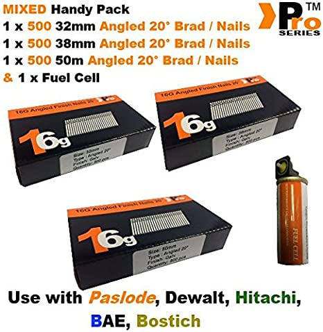 Finishing Nails 16 Gauge  2500 Pack Sizes 32mm 38mm 50mm or 64mm You Choose Brad