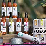 The Good Hurt Fuego Hot Sauce Sampler Set by Thoughtfully: A Collection of 7 Spicy Hot Sauces from around the World