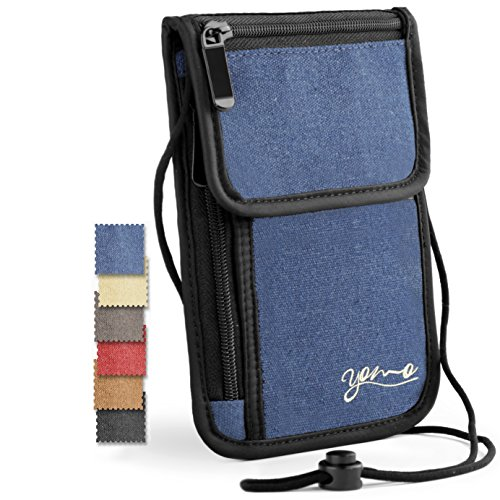 Passport Holder- by YOMO. RFID Safe. The Classic Neck Travel Wallet. ()