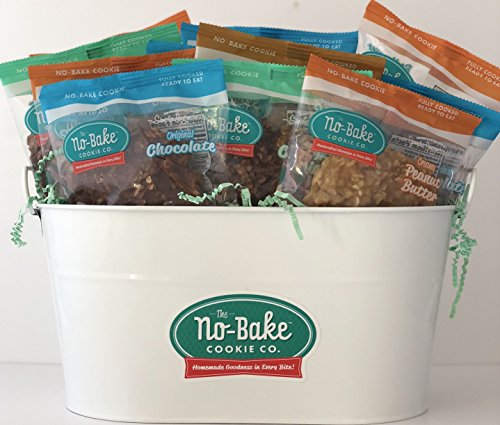 The No-Bake Cookie Co, Gift Basket, Variety 12 Pack by The No-Bake Cookie Company