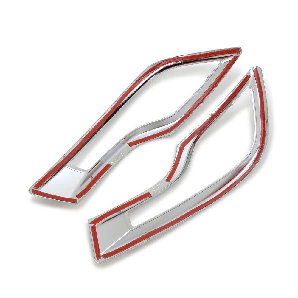 Kadore for Honda CRV CR-V 2017 2018 2019 Car Chrome Rear Fog Light Lamp Cover Trim Bezels 2-pc