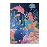 Meshion 100 Pieces Jigsaw Puzzles -Mermaid -Beautiful Design,for 4-7 Years Old Kids Children Girls