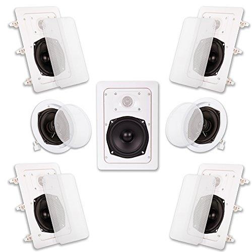 Acoustic Audio HT-57 7.1 Home Theater Speaker System (White 7) [並行輸入品] B078G6Z9G5