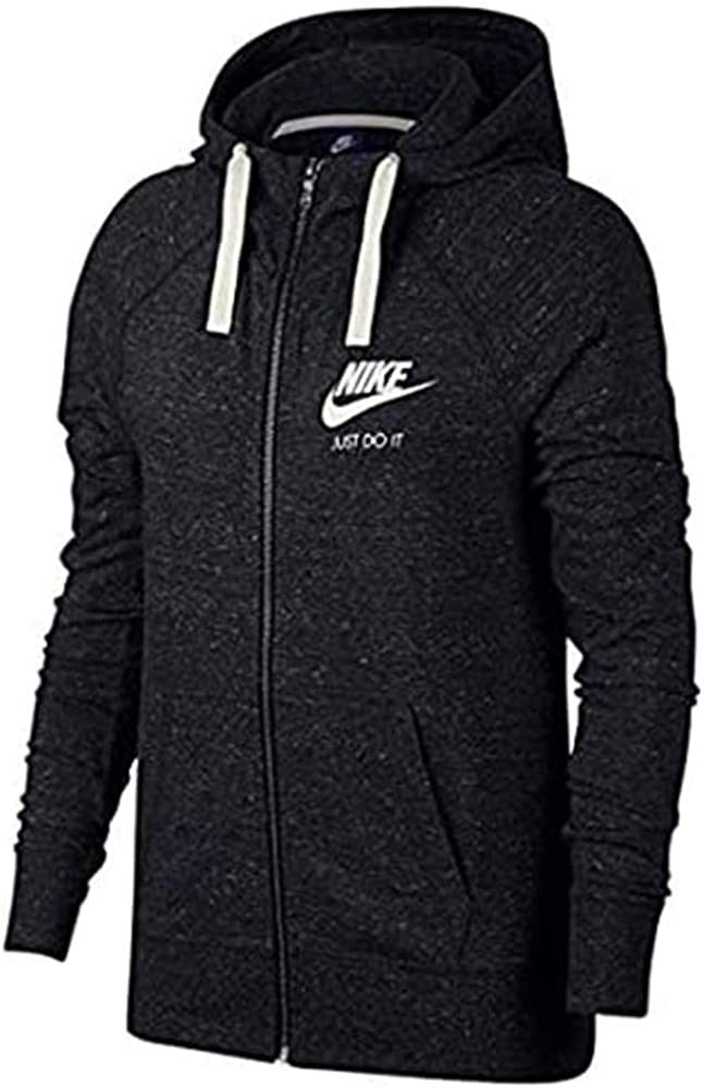 Nike Women's Sportswear Gym Vintage Full-Zip Hoodie at  Women's Clothing store