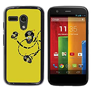 Stuss Case / Funda Carcasa protectora - Funny Lol Troll Bee Bombs Wtf - Motorola Moto G 1 1ST Gen