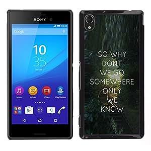 Cubierta protectora del caso de Shell Plástico || Sony Xperia M4 Aqua || Cita del amor de mensajes de texto de San Valent¨ªn Regalo @XPTECH