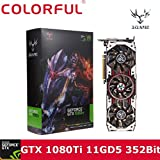 Graphics Card, iGame GTX1080Ti Vulcan AD 11GB Video Graphics Card 1594/1708MHz forNIER colorful (Black)