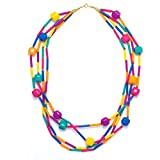 Vintage Nwt Multi Strand Genuine Lucite Pastel Colors Long Beads Necklace