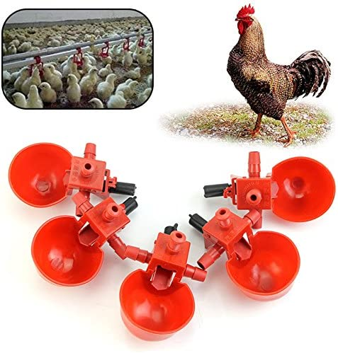 UNWSTYU Round Bubble Chicken Drinking Fountain Device Hanging Cup Waterer Bowl Pet Poultry Water Drinker Household Pet Feeding