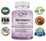 Amate Life Women's Support Supplement- Natural Hormone Regulation- Menopause Support Supplement- Estrogen Rich Supplement- Active Ingredients Hormone Regulation – Pills to Balance Hormones Non-GMO For Sale
