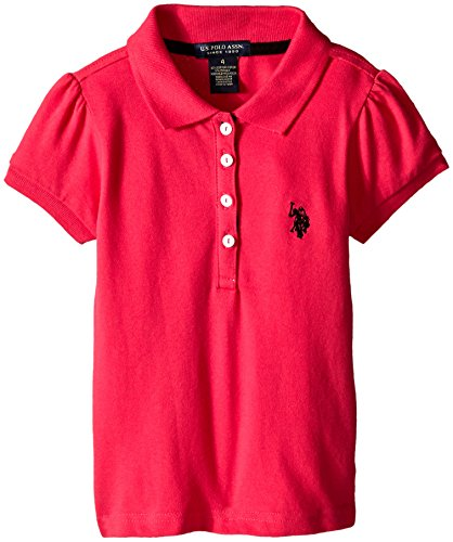 us-polo-assn-girls-puff-sleeve-pique-polo