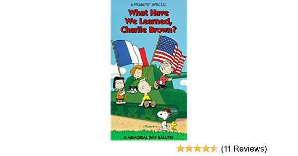 What Have We Learned About Special >> Amazon Com Peanuts What Have We Learned Charlie Brown Vhs