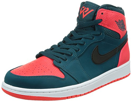 遠征一口製造(ナイキ) Air Jordan 1 Retro High Russell Westbrook Teal Bla...