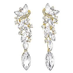 Rhinestone Chandelier Long Dangle Earrings