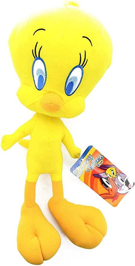 11 Inches Looney Tunes Tweety Bird NEW WITH TAGS Plush Yellow,RARE,MINT