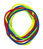 Chewable Jewelry Large Coil Necklace - Fun Sensory Motor Aid - Speech And Communication Aid - Great For Autism And Sensory-Focused Kids 8 Pack 4 Colors