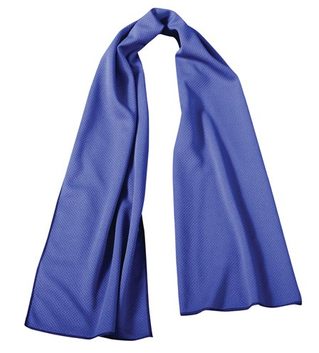 OccuNomix International LLC TD400-018 - Coolcore Tuff & Dry Wicking & Cooling Towel - Color: Blue, 36 in Long, 8 in Wide