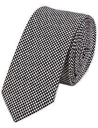 Men's Super Skinny Cotton Tie British Jacquard Point Patterned Neckties