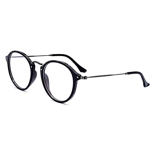 Tianou Gafas de acetato marco retro gafas redondas