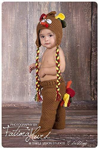 6703e1e3c1c Amazon.com  Crochet Turkey Baby Hat And Pants