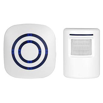Alarma de seguridad para el hogar, alarma de sensor de movimiento inalámbrico OXOQO Entrada de