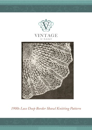 Victorian style lace baby christening shawl vintage knitting pattern (Antique Lace baby Shawls to Make Book 2)