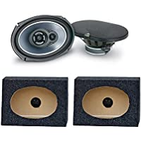 JL AUDIO TR690 TXI 6x9 3 WAY CAR SPEAKERS TR-690(1PAIR) 6X9PKB 6 X 9 Inches Angled/Wedge Box Speakers, Set of Two (Black)