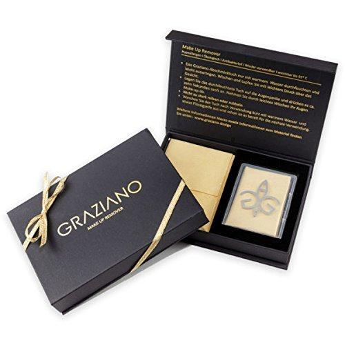 Toallita desmaquillante Graziano, 2 unidades, microfibra, antibacteriano, hipoalergénica, reutilizable, lavable a 95 °C, paquete de regalo incl.estuche de ...