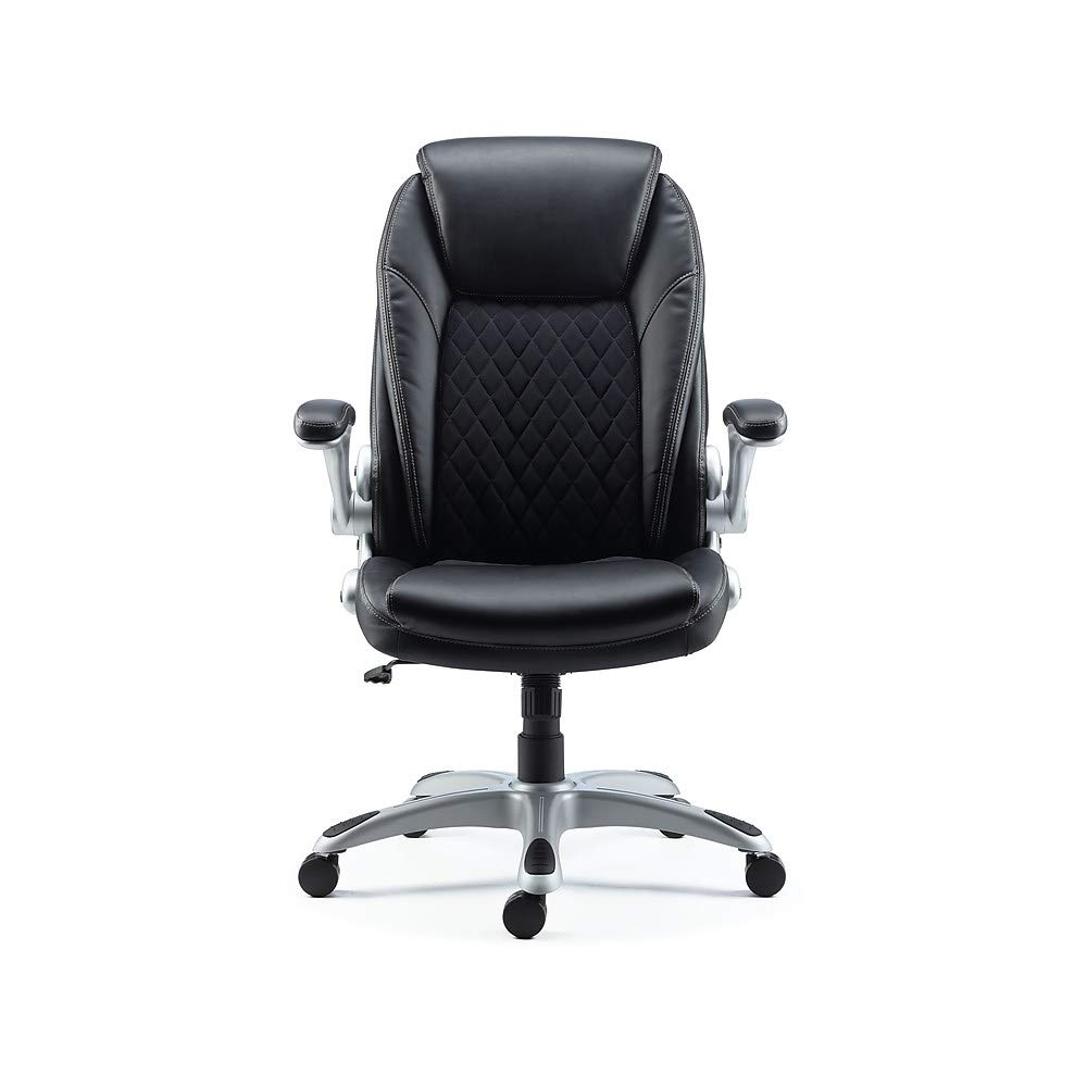 Staples Sorina Bonded Leather Chair (Black)