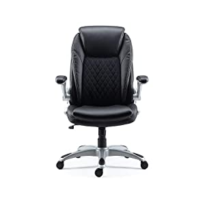 Staples Sorina Bonded Leather Chair (Black)