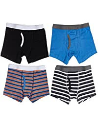 Boys Cotton/Spandex Boxer Briefs (Pack Of 4)