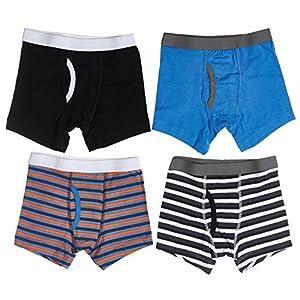 Trimfit Boys Cotton/Spandex Tagless Assorted Boxer Briefs 4-Pack