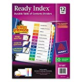 Avery Ready Index Table of Contents Dividers, 12-Tab Set (11141)