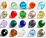 HYBEADS 100per 4mm 6mm 8mm Mixed Crystal Round Beads 5000# Glass Faced Beads Craft Accessories making for Jewelry