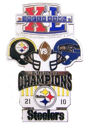 Super Bowl XL Oversized Commemorative Pin by Pro Specialties Group