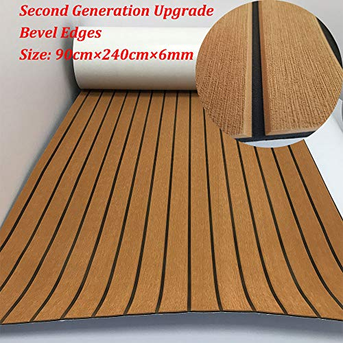 yuanjiasheng Second Generation Upgrade EVA Faux Teak Decking Sheet For Boat Yacht Non-Slip 94.5