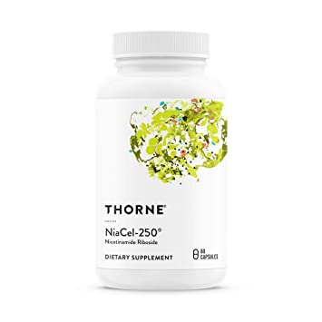 Thorne Research - NiaCel-250 - Nicotinamide Riboside Supplement with  ChromaDex's Niagen -