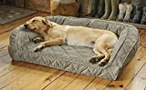 Orvis Memory Foam Bolster Dog Bed/Small Dogs Up to 40 Lbs, Charcoal