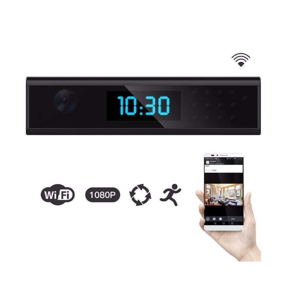 WiFi Horloge D'espionnage Masquer la Camé ra HD 1080p Mini Cam Nounou Dé tection de Mouvement Vision Nocturne avec Carte SD MPOM 2110514