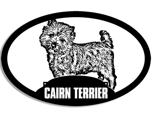 Oval CAIRN TERRIER Silhouette Sticker (dog breed)