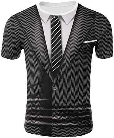 y-style 背広 スーツ プリント Tシャツ 宴会 コスプレ 仮装 面白 グッズ 男女兼用 (Lサイズ)