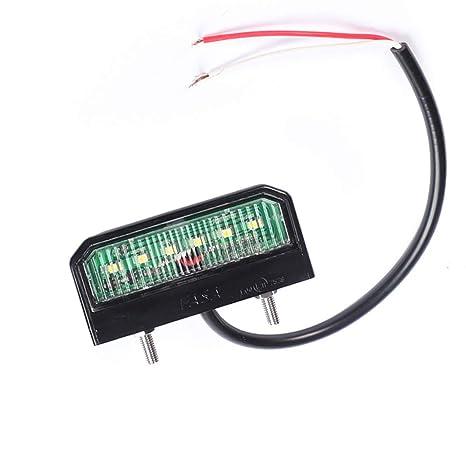 Fajerminart 6 LED Chips Lámpara De Placa De Matrícula De LED, 12V ~ 24V Luces
