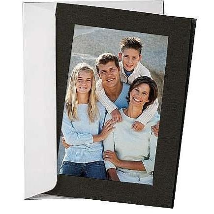 SIMPLICITY BLACK Photo Folder Insert Cards sold in 10s - 4x6 by Studio Style by Collector's Gallery